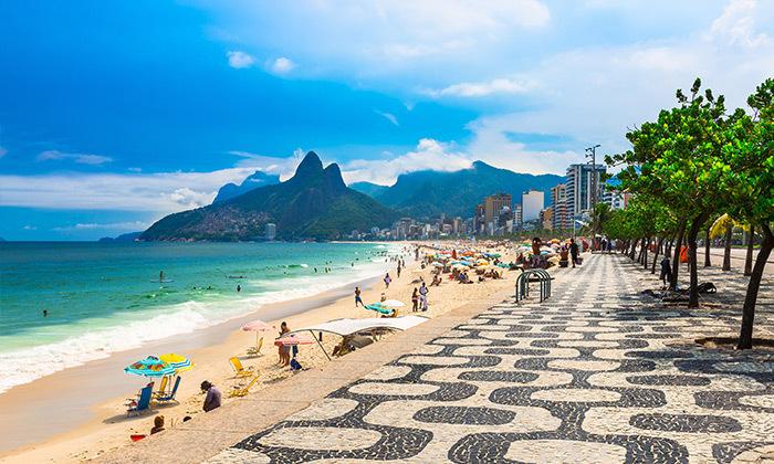פסח בריו דה ז'נירו, ברזיל - מלונות לבחירה על החוף בקופקבנה