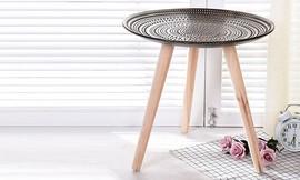 שולחן צד קעור