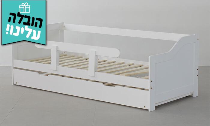 6 מיטת ילדים מעץ מלא TUTTI - הובלה חינם!