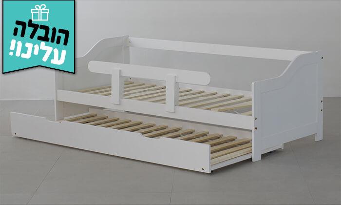 8 מיטת ילדים מעץ מלא TUTTI - הובלה חינם!