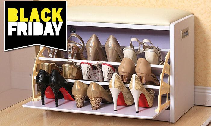 24 שידת התארגנות עם מקום לנעליים
