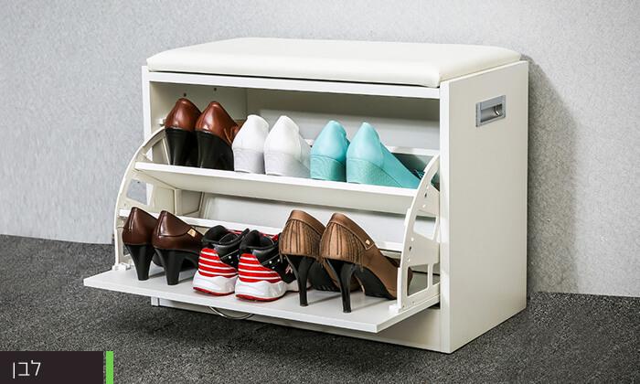 5 שידת התארגנות עם מקום לנעליים