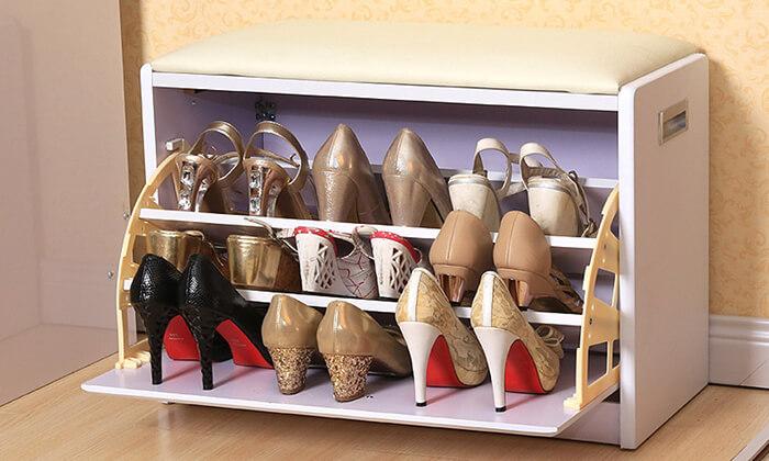 9 שידת התארגנות עם מקום לנעליים