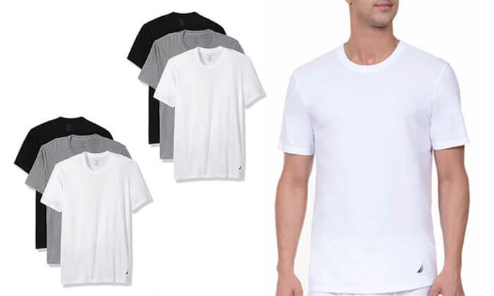 3 מארז 6 חולצות טי-שרט נאוטיקה לגבר