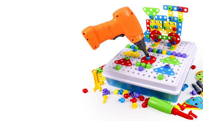 2 משחק הרכבה תלת מימדי חשמלי לילדים