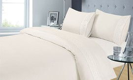 סט מצעים 4 חלקים למיטה זוגית