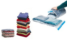 10 שקיות  ROLL-UP לאחסון בגדים