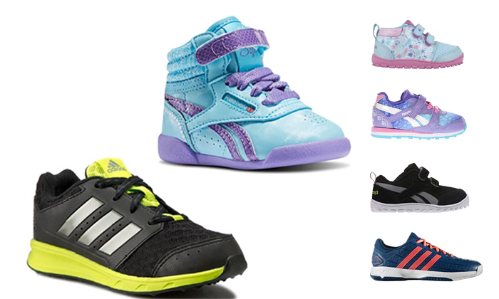 18 נעלי Adidas ו-Reebok לילדים ונוער