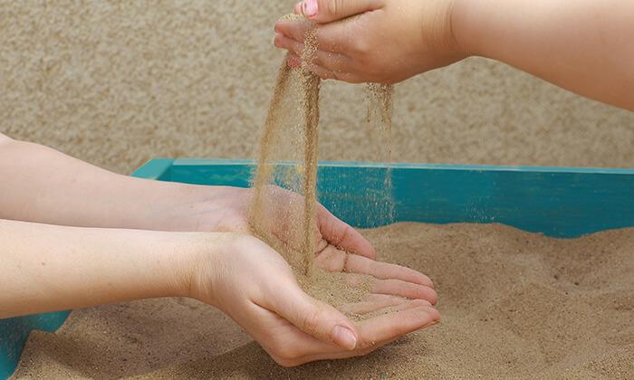 3 בריכת חול צבעונית