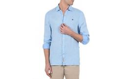 חולצת פשתן מכופתרת לגברים