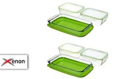 6 קופסאות זכוכית עם מכסים