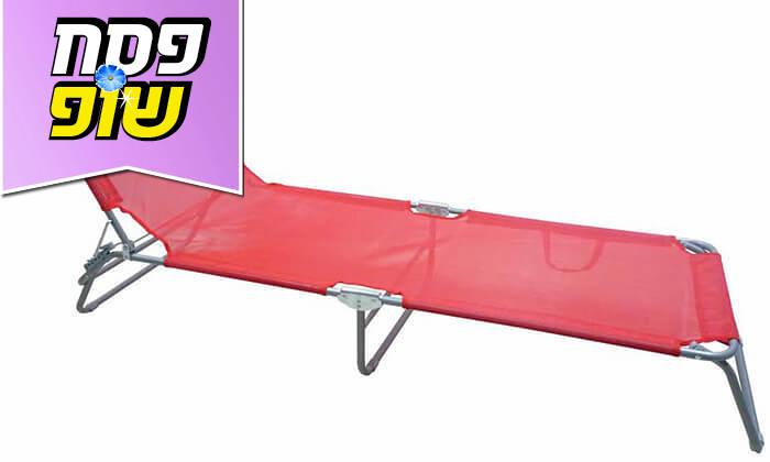 4 מיטת שיזוף מתקפלת