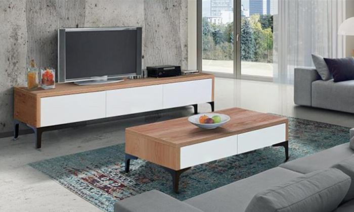 2 מזנון ושולחן לסלון House Design