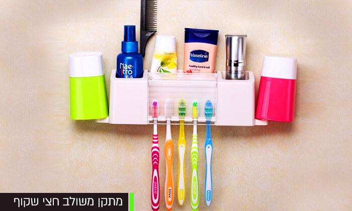 6 מעמד מברשות שיניים