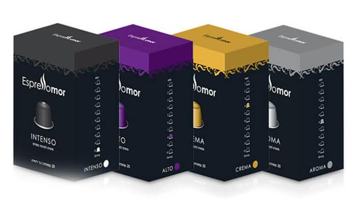 מרענן 100 קפסולות קפה תואמות למכונת Nespresso | גרו (גרופון) MP-36