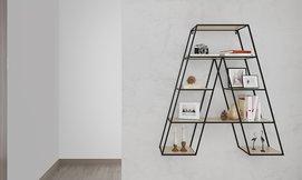 מעמד מדפים לקיר, דגם מגדל