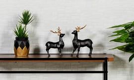 פסלוני חיות בעיצוב גיאומטרי