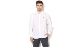 חולצה פשתן לבנה לגברים