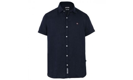 חולצת פשתן לגבר Napapijri כחול