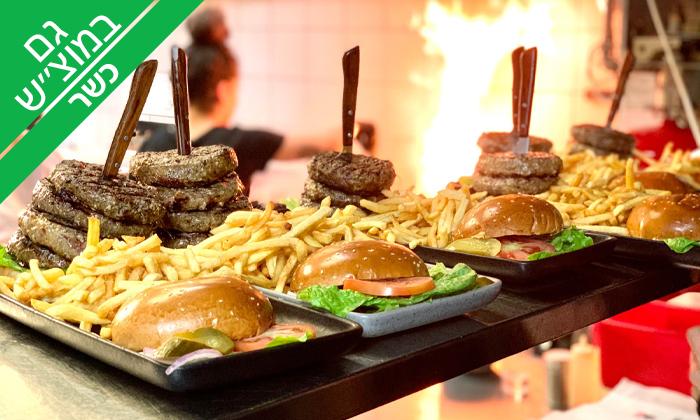 2 ארוחת המבורגר כשרה ב-Giggsi סינמה ספורט בר, באר שבע