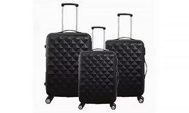 סט 3 מזוודות קשיחות וקלות