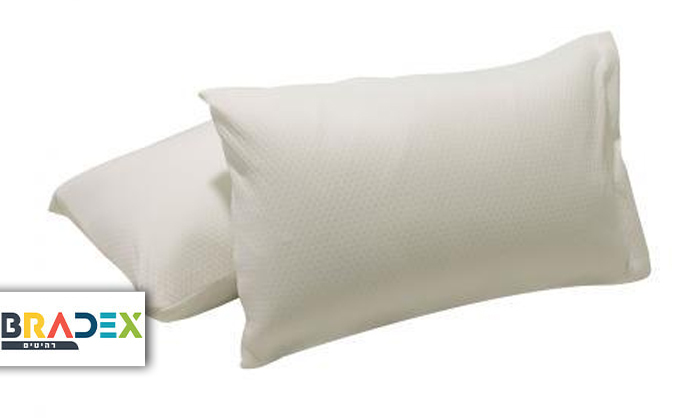 2 זוג כריות ויסקו  BRADEX MEMORY FOAM PILLOWS - משלוח חינם