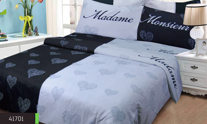 4 סט מצעים למיטה זוגית