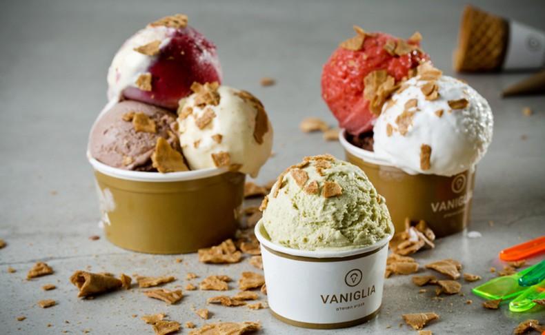 מנת גלידה ברשת וניליה Vaniglia