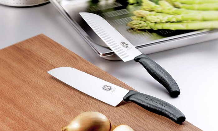 6 סכין שף ומשחיז מבית VICTORINOX