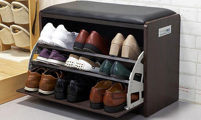 2  שידת התארגנות עם מקום לנעליים