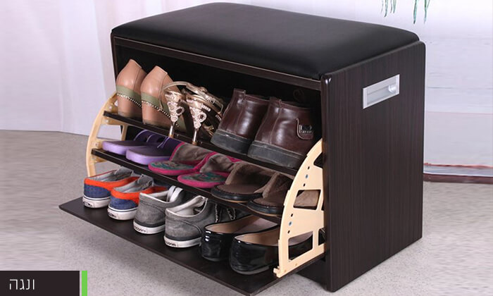 6 שידת התארגנות עם מקום לנעליים