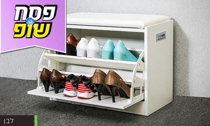 4 שידת התארגנות עם מקום לנעליים