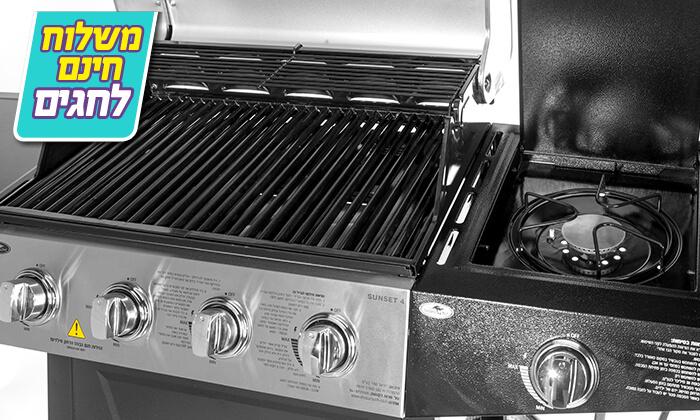 7 גריל גז 4 מבערים Australia Chef כולל גריל מורכב
