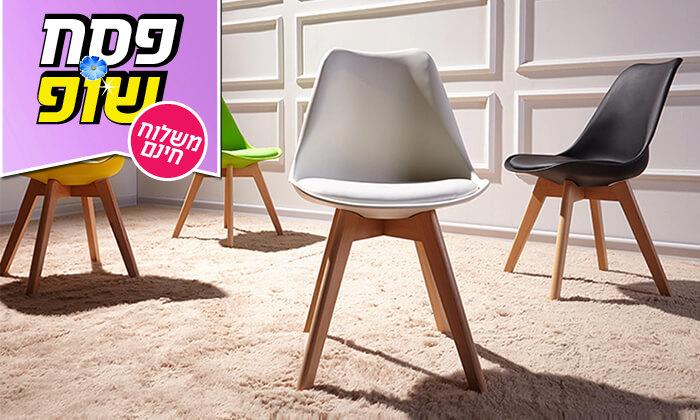 8 כיסא מעוצב דמוי עור - משלוח חינם!