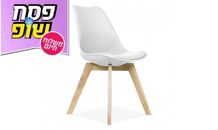 4 כיסא מעוצב דמוי עור - משלוח חינם!