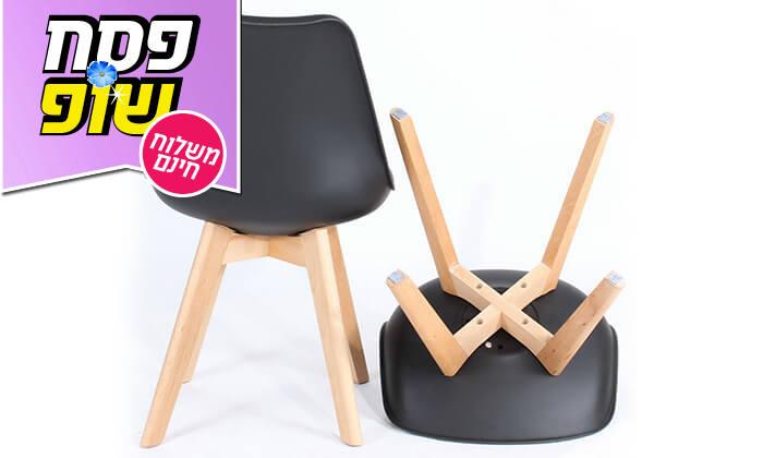 5 כיסא מעוצב דמוי עור - משלוח חינם!