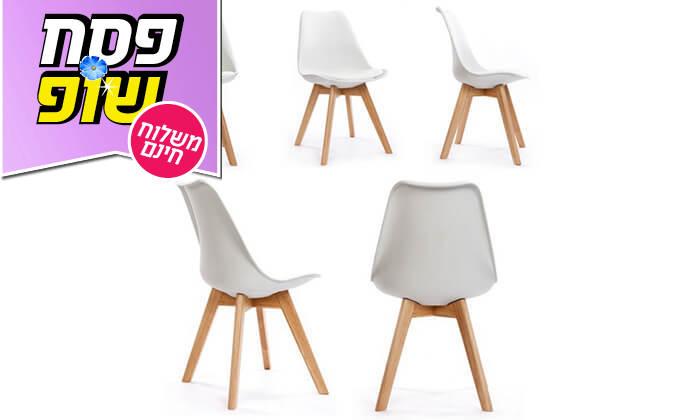 6 כיסא מעוצב דמוי עור - משלוח חינם!