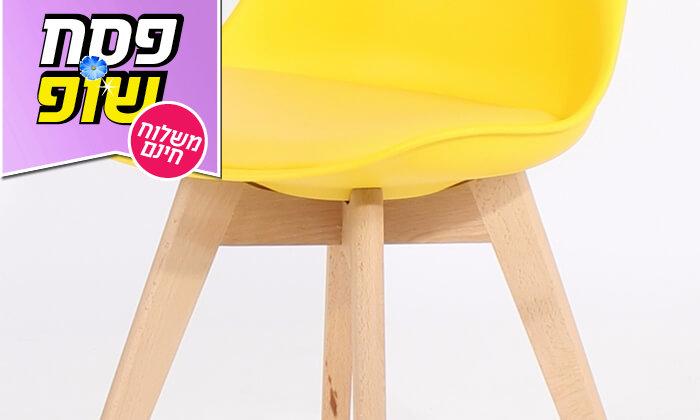 10 כיסא מעוצב דמוי עור - משלוח חינם!