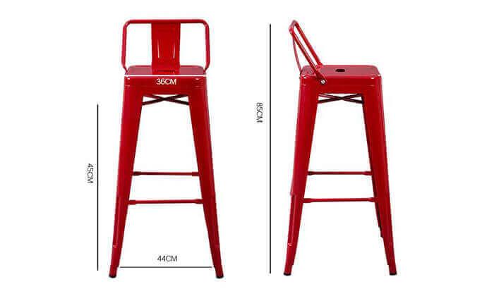 4 כיסא בר בעיצוב אורבני