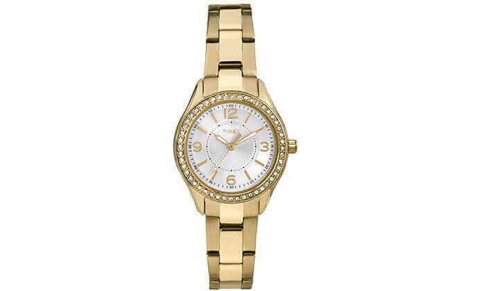 2  שעון יד מוזהב לאישה