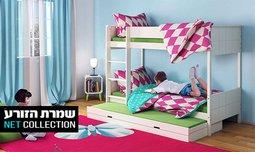 מיטת קומותיים מעץ דגם שביט