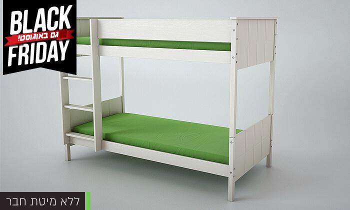 3 שמרת הזורע: מיטת קומותיים מעץ מלא