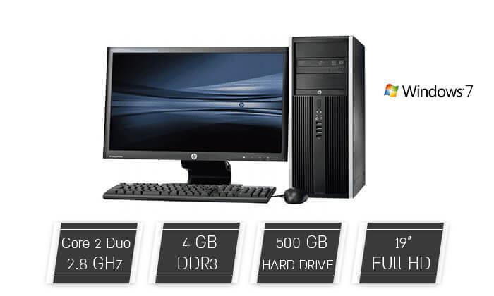 """2 מחשב נייח HP עם מסך """"19"""