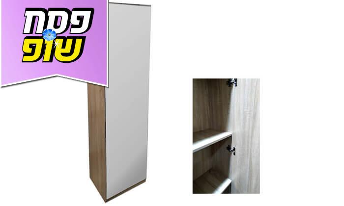 5 ארון מדפים עם דלת מראה Homax