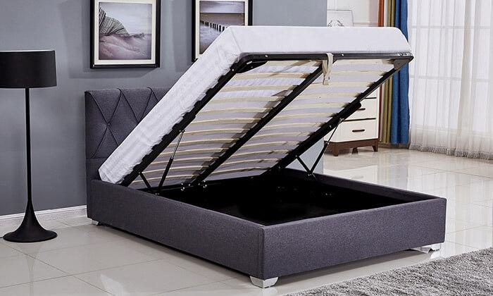 4 מיטה זוגית עם ארגז מצעים