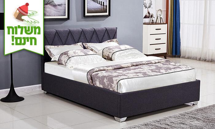 6 מיטה זוגית עם ארגז מצעים - הובלה והרכבה חינם!