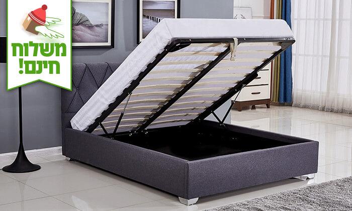 4 מיטה זוגית עם ארגז מצעים - הובלה והרכבה חינם!