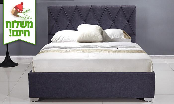 3 מיטה זוגית עם ארגז מצעים - הובלה והרכבה חינם!