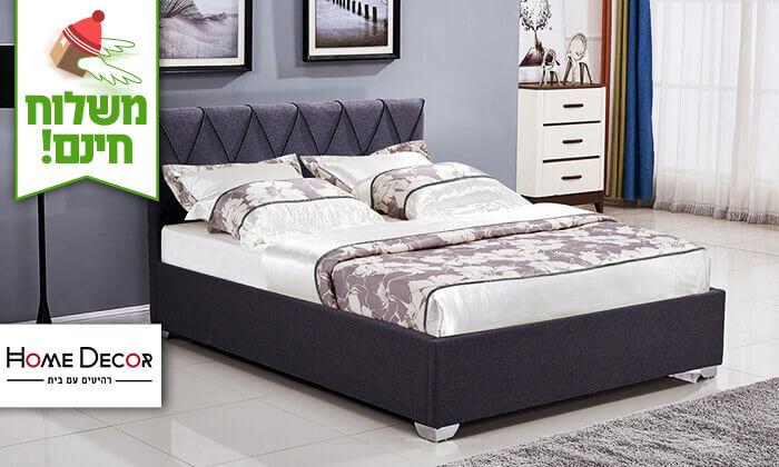 2 מיטה זוגית עם ארגז מצעים - הובלה והרכבה חינם!
