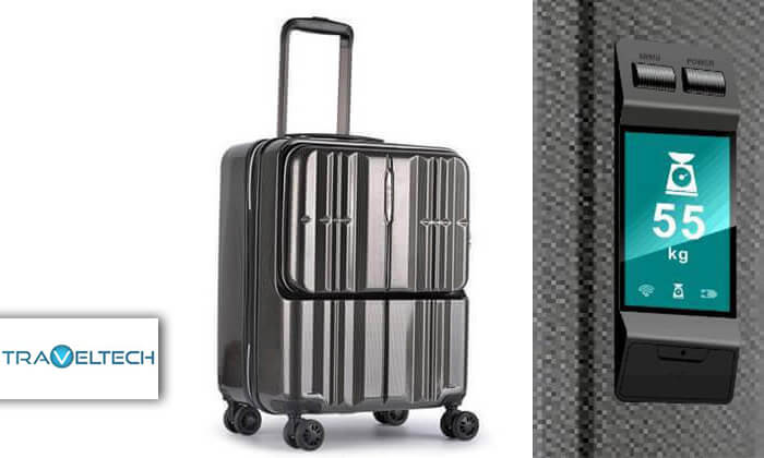 2 מזוודת טרולי חכמה traveltech